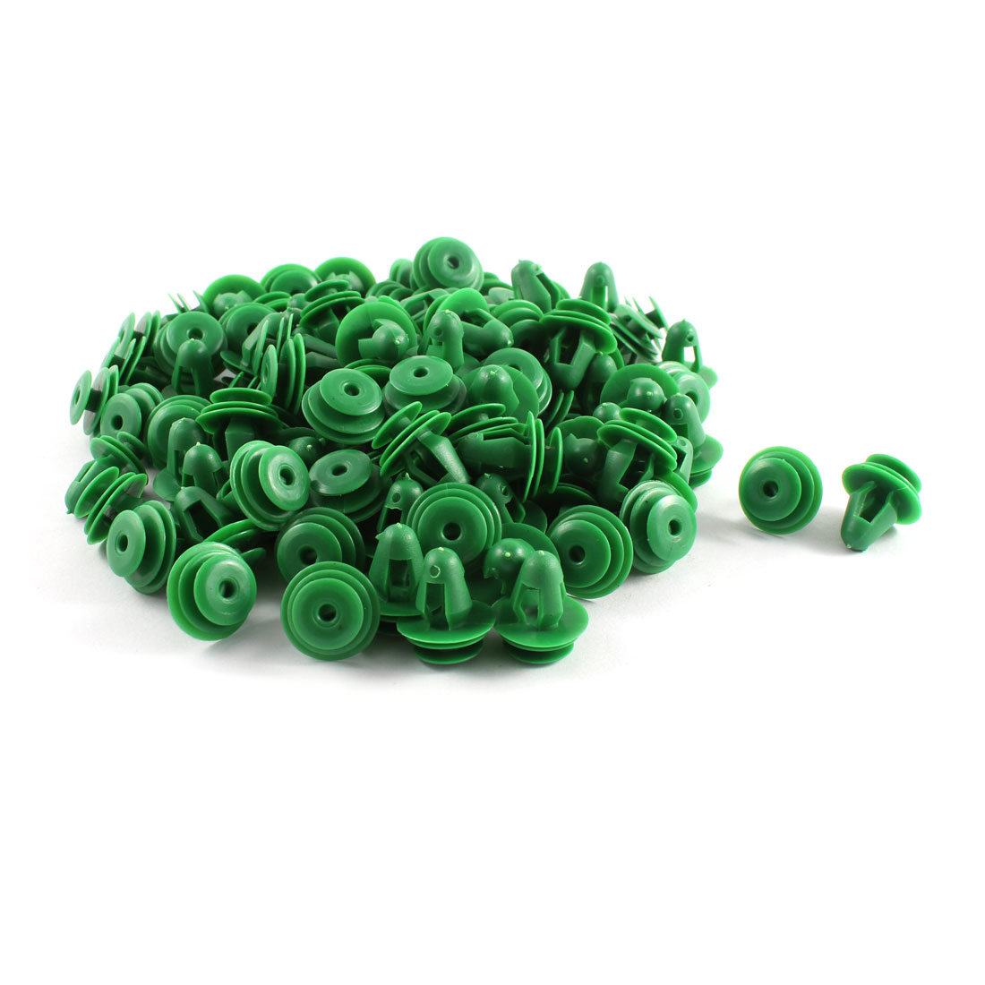 110 Pcs Green Plastic Door Trim Fastener for Car Boat 10mm Hole 17mm Head