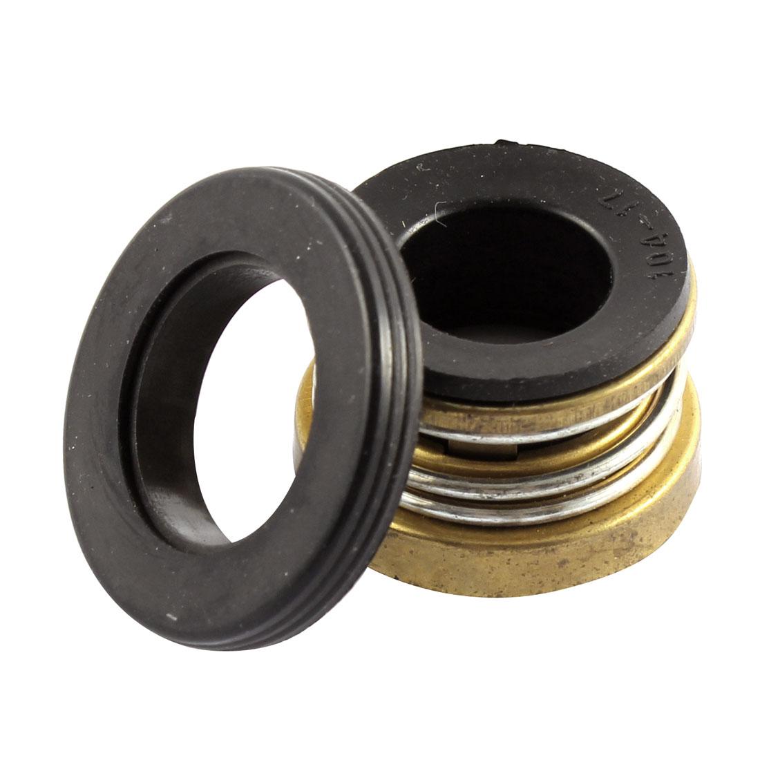 """17mm 0.7"""" Internal Dia Metal Spring Rubber Bellows Water Pump Mechanical Seal"""