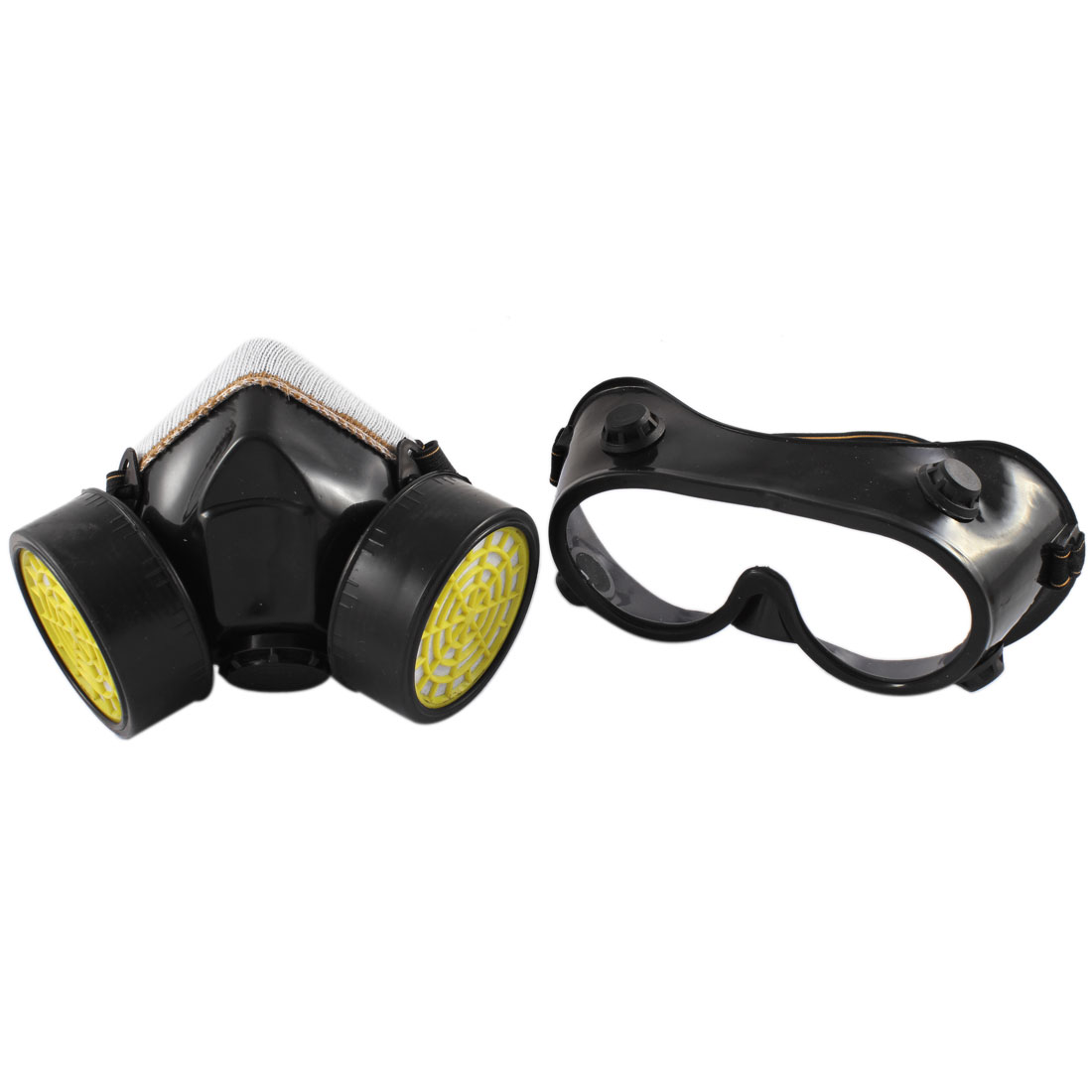 Double Cartridge Dust Proof Respirator Mask Fliter Goggle Set Industrial Safety Equipment