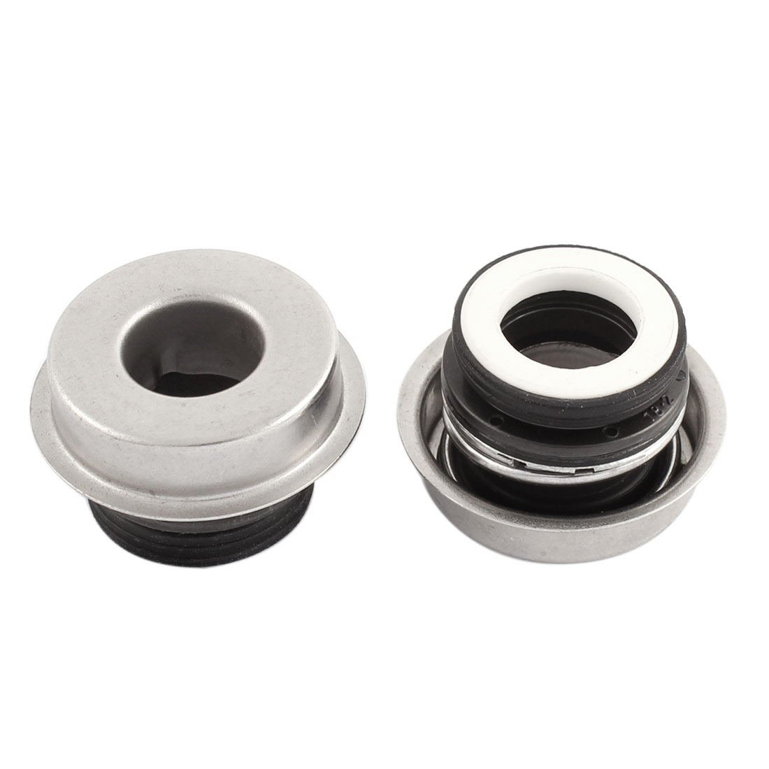 Water Pump Mechanical Oil Seal Silver Tone 2 Pcs