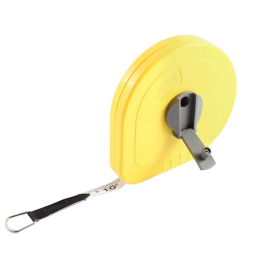 Fibreglass Surveyors Measure Tape Reel Roll Measuring Tool 20M