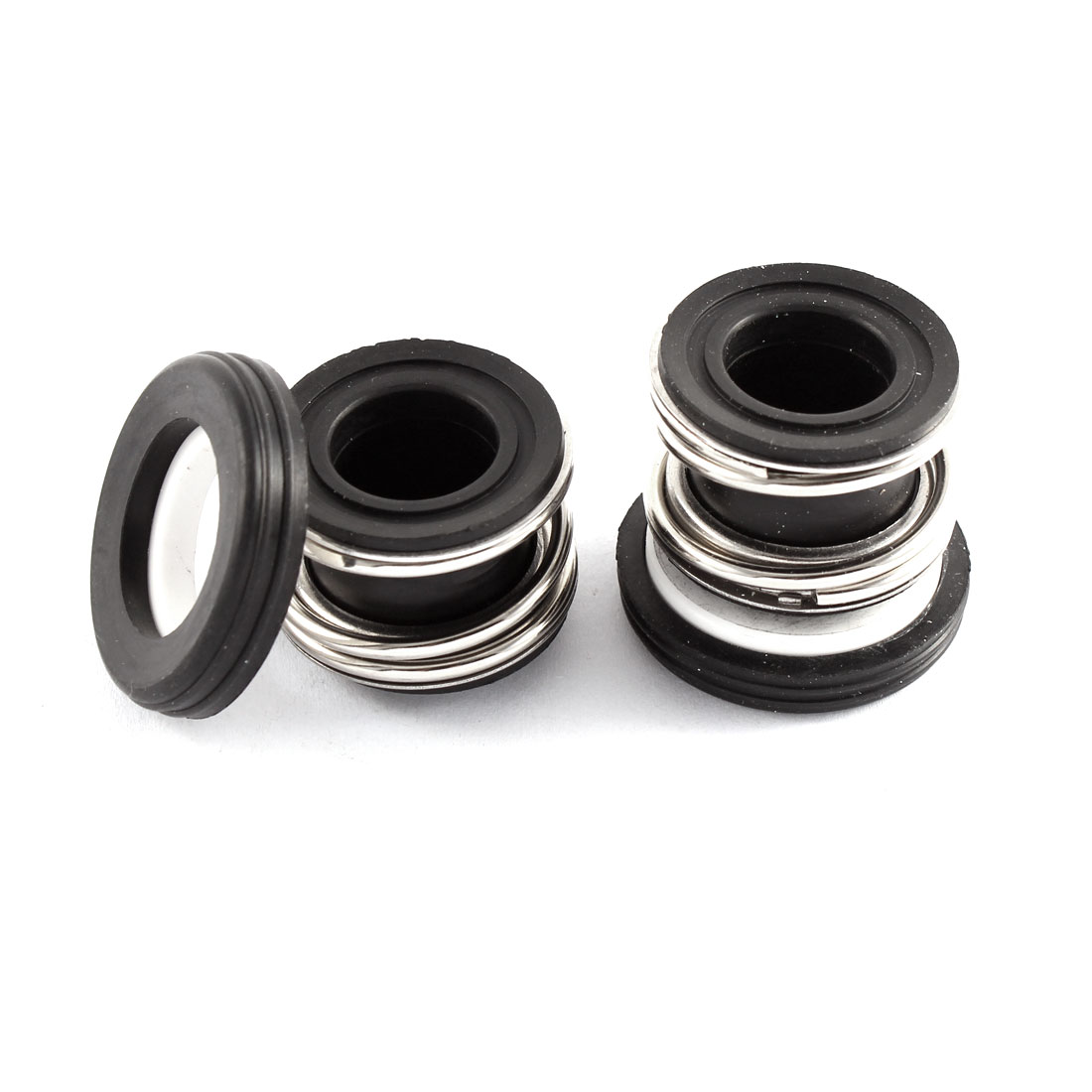 16mm Internal Dia 25mm Height Metal Single Spring Bellows Mechanical Seal 2Pcs