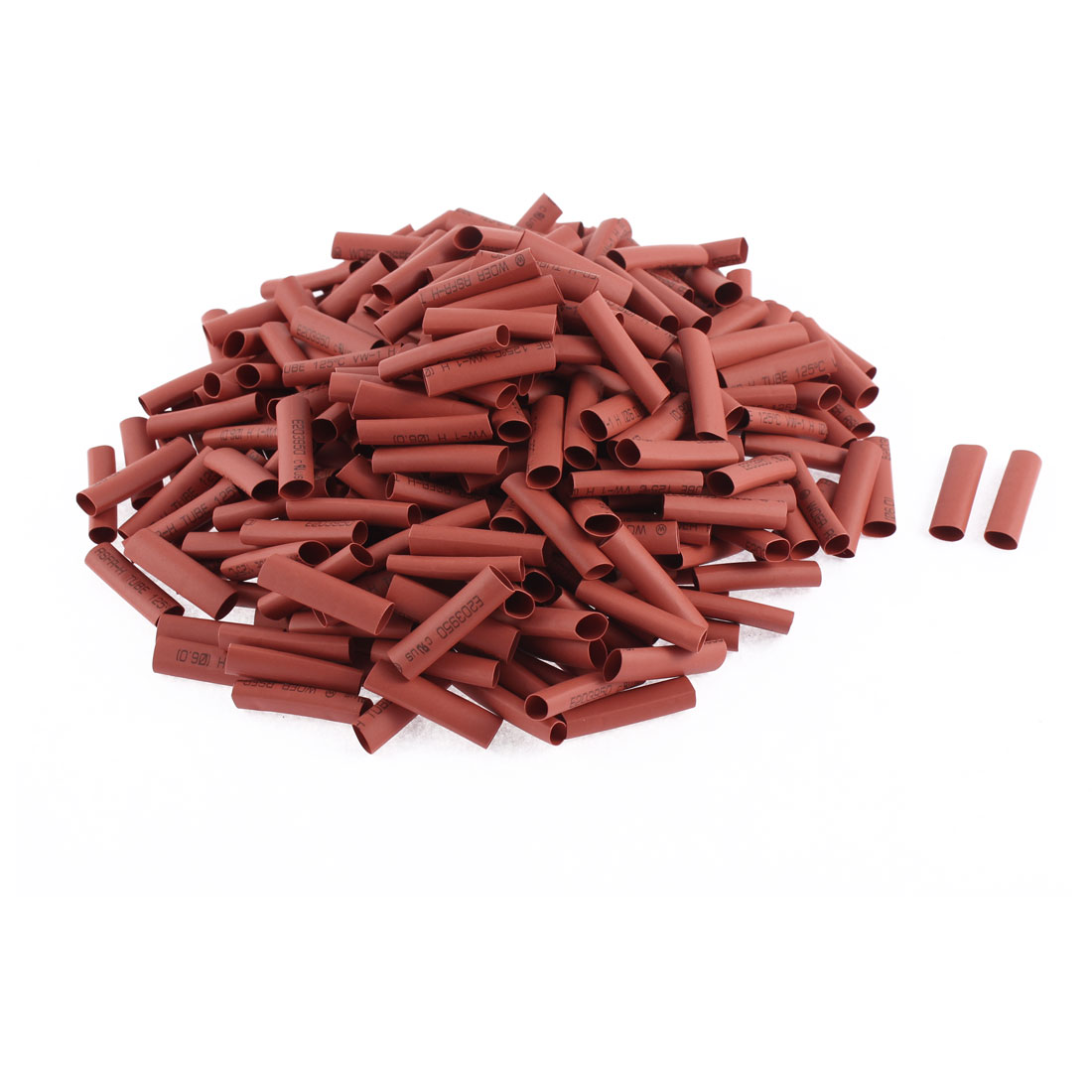 600V 125C 6mm Dia 2:1 Heat Shrinkable Tubing Shrink Tube Pipe Wire Cover Red 330pcs