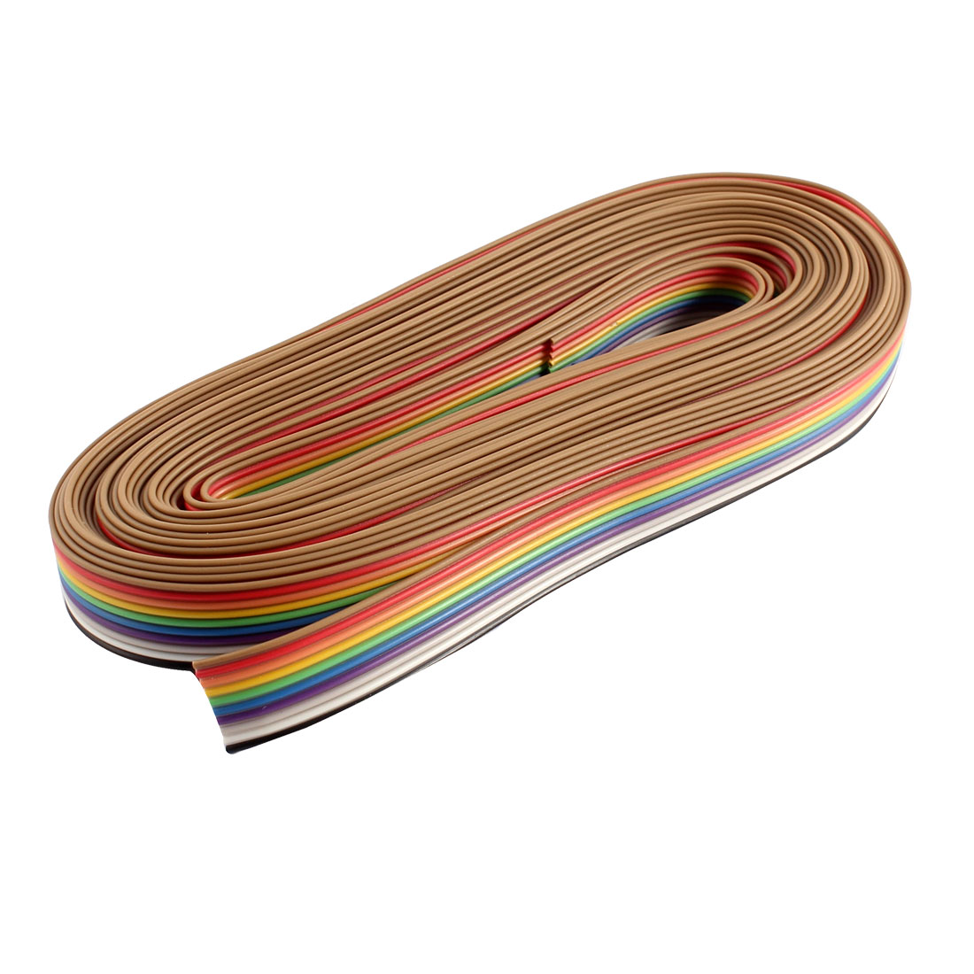 20Ft 6M Long 10 Way 10 Pin Rainbow Color Flat Ribbon Cable IDC Wire 1.27mm Pitch DIY