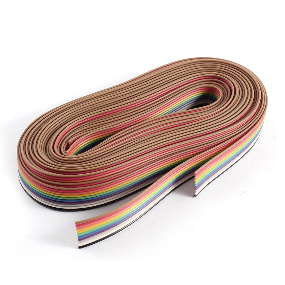 2pcs 10Ft 3Meter Long 10 Way 10 Pin Rainbow Color Flat Ribbon Cable IDC Wire 1.27mm Spacing DIY