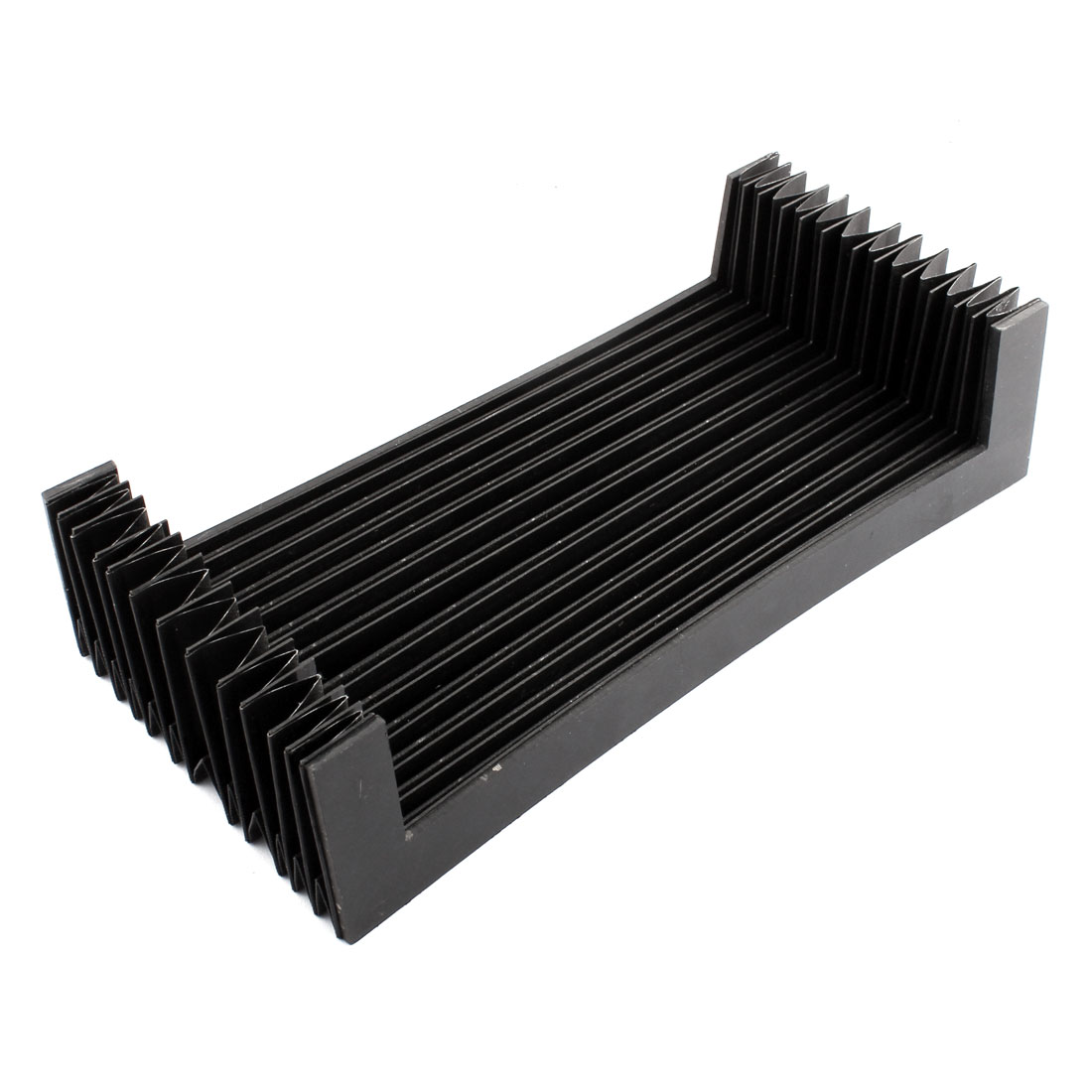 CNC Machine Fitting Flexible Foldable Accordion Shaped Dust Cover 32 x 25 x 6cm Black