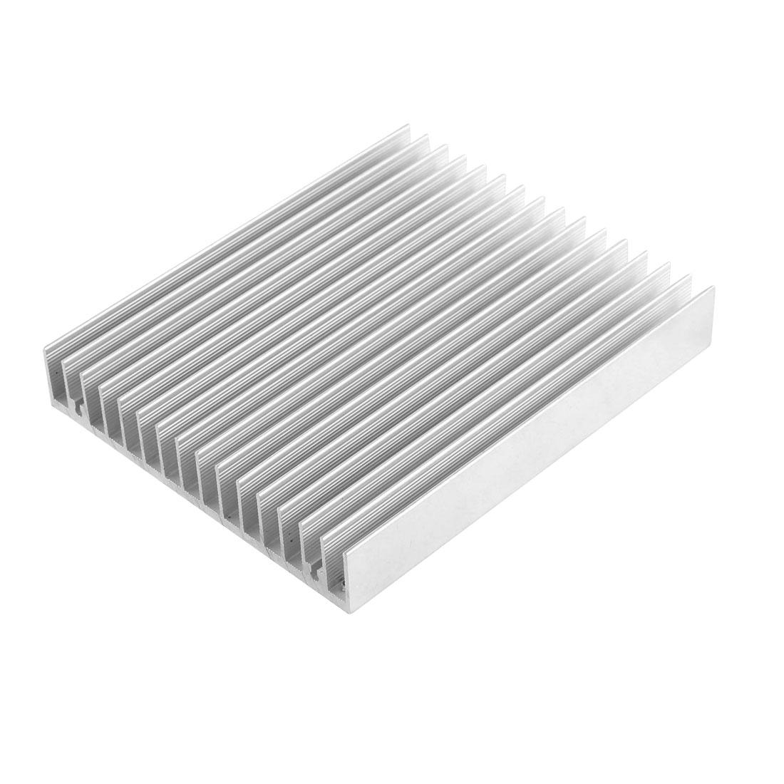 Silver Tone Aluminum Radiator Diffuse Heat Sink Heatsink Cooling Fin 120 x 100 x 20mm