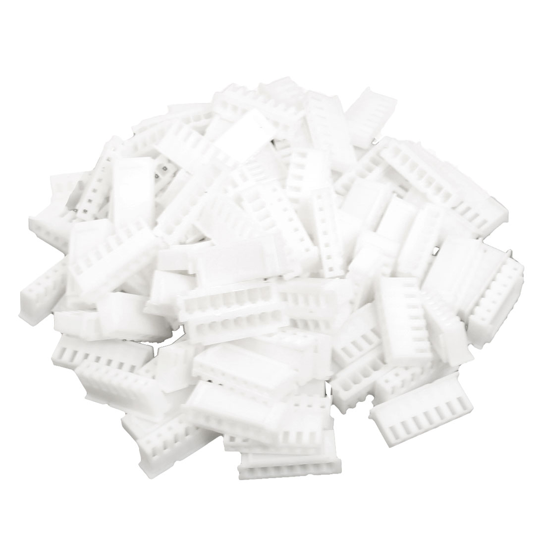 100pcs White Plastic CH 2.54mm Pitch 7 Position Connector Housing for 7P Crimp Terminal