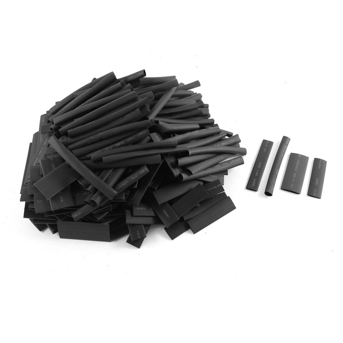 400pcs Black 2:1 Heat Shrink Tubing Shrinkable Tube Pipe Cable Sleeve Cover Wrap 4 Sizes