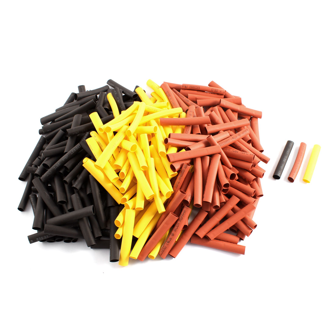 300pcs 6mm Dia 2:1 Heat Shrink Tubing Shrinkable Tube Sleeving Insulated Pipe Cover Cable Wrap
