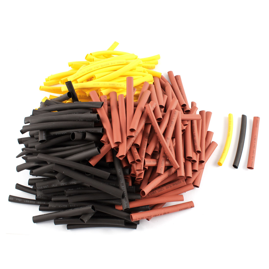 300pcs 6mm Dia 2:1 Ratio Heat Shrink Tubing Tube Insulated Pipe Cable Cover Wire Sleeve