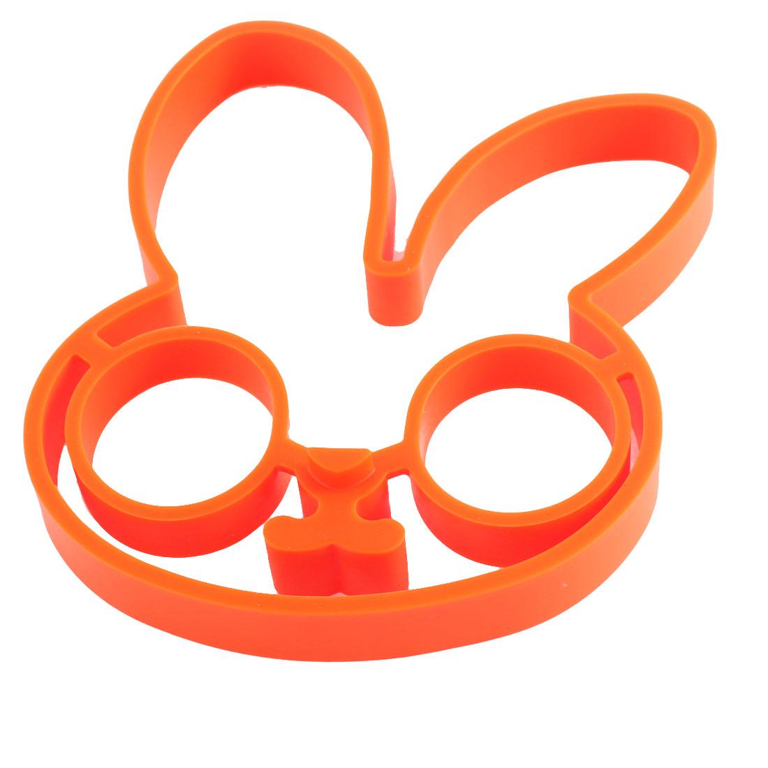 Orange Soft Silicone Rabbit Design Mould Kitchenware Cookie Cutter