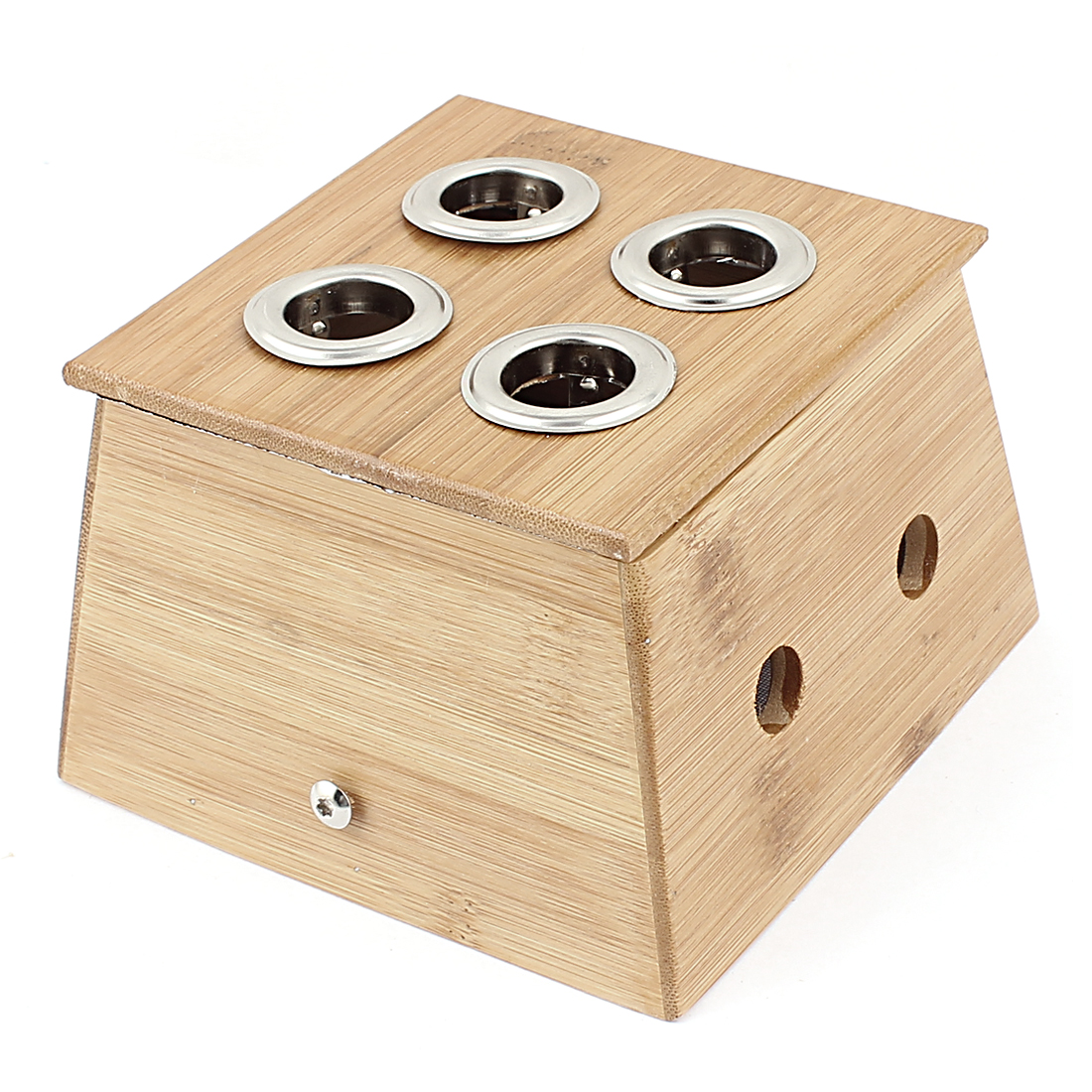 Four Holes Roll Holder Therapy Massage Bamboo Mild Moxibustion Box