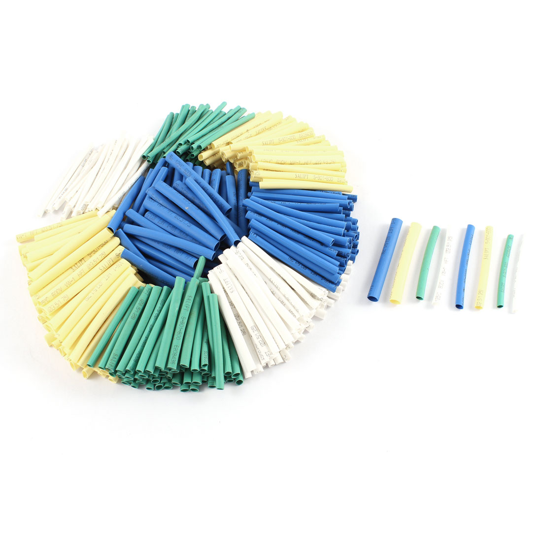200 Pcs Polyolefin Heat Shrink Tubing Shrinkable Tube Assorted Color