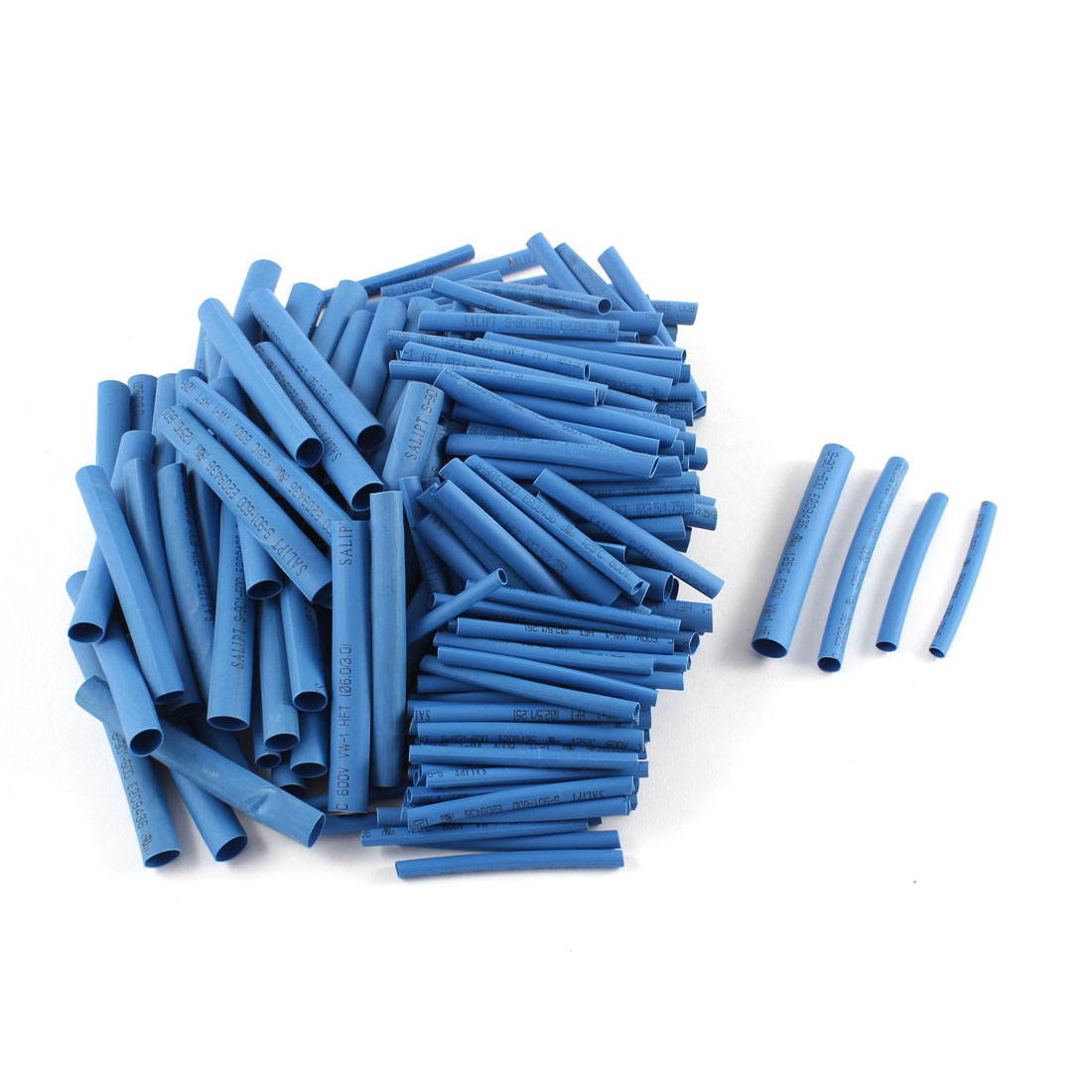 200 Pcs 4 Sizes Polyolefin Heat Shrink Tubing Cable Sleeve Blue