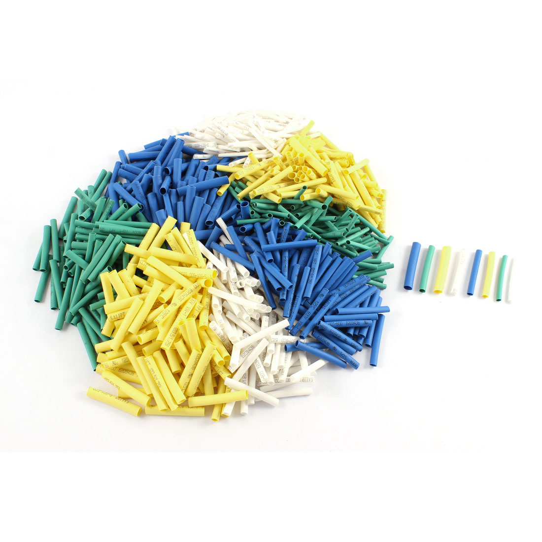 400 Pcs Polyolefin Heat Shrink Tubing Electrical Connection Cable Sleeve Assorted Color