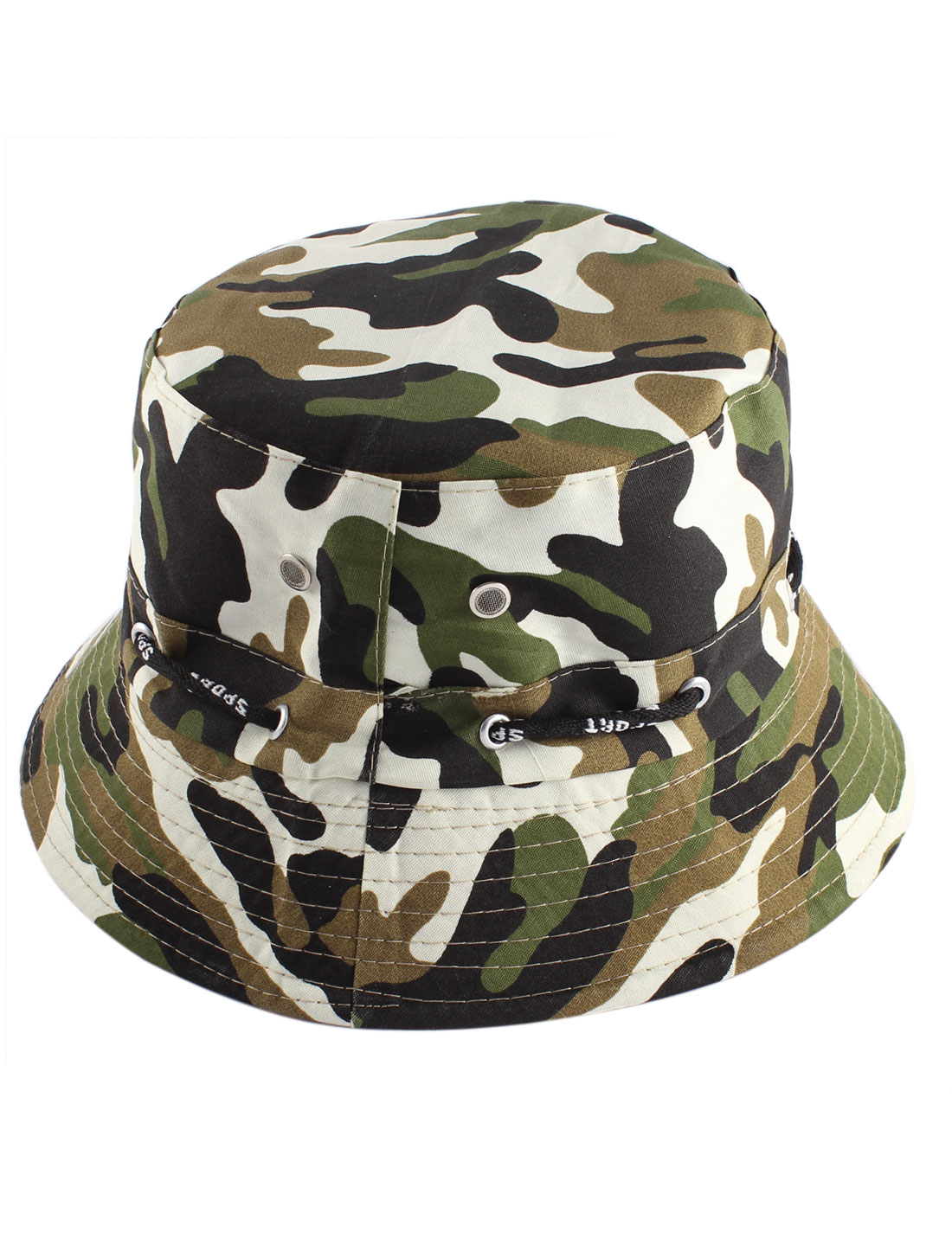 Outdoor Leisure Round Brim Sun Visor Camouflage Print Bucket Hat Cap for Unisex