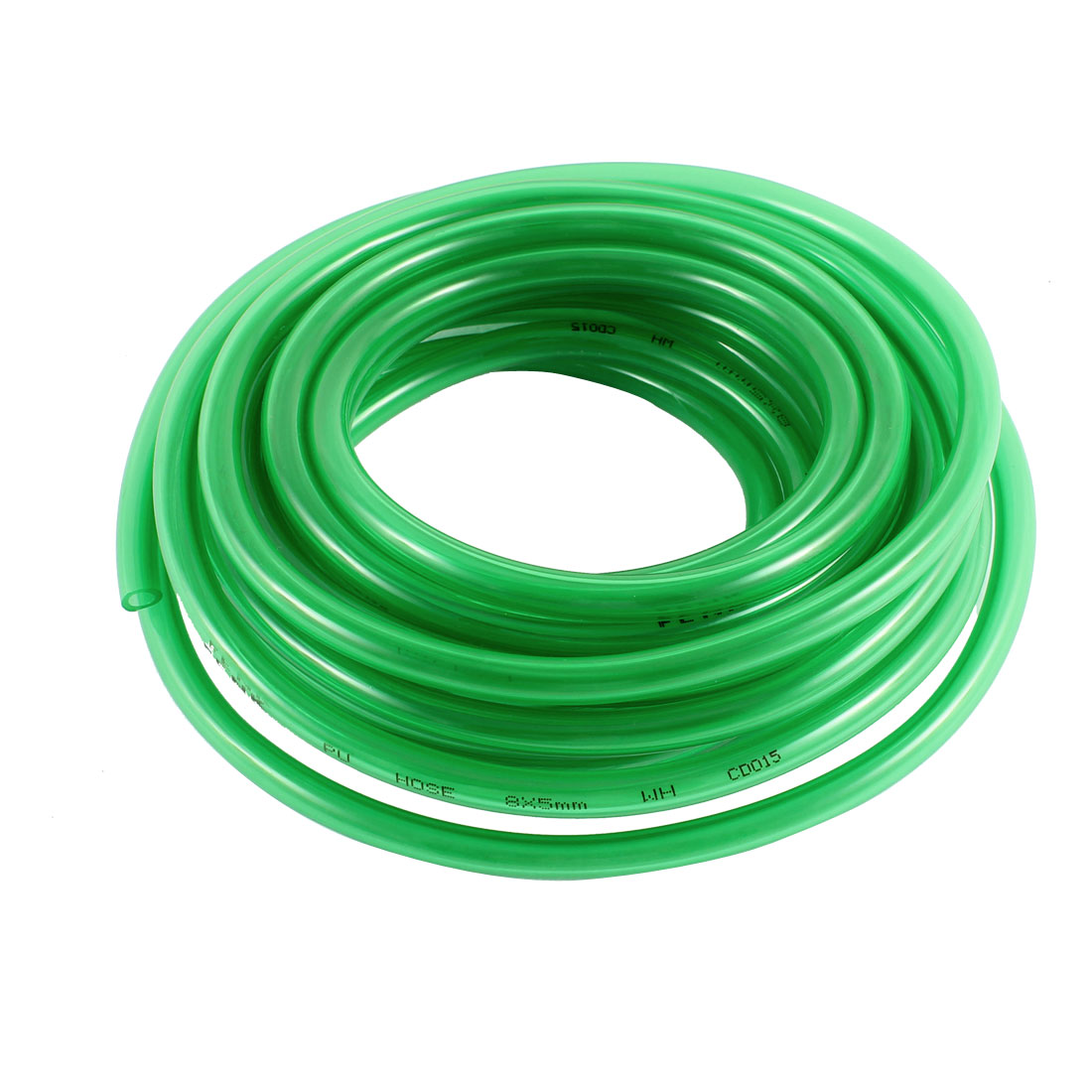 5mm x 8mm 6 Meters Long Air Pneumatic Polyurethane Tube PU Hose Pipe Green