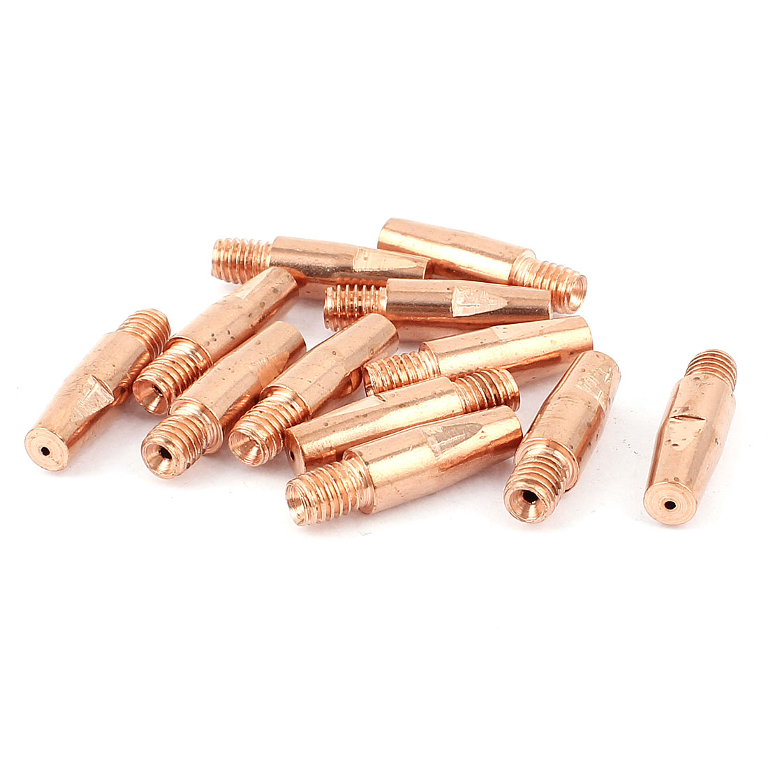 CO2 Welding Solder Torch 0.8mm Nozzle Tip Holder Copper Tone 12 Pcs