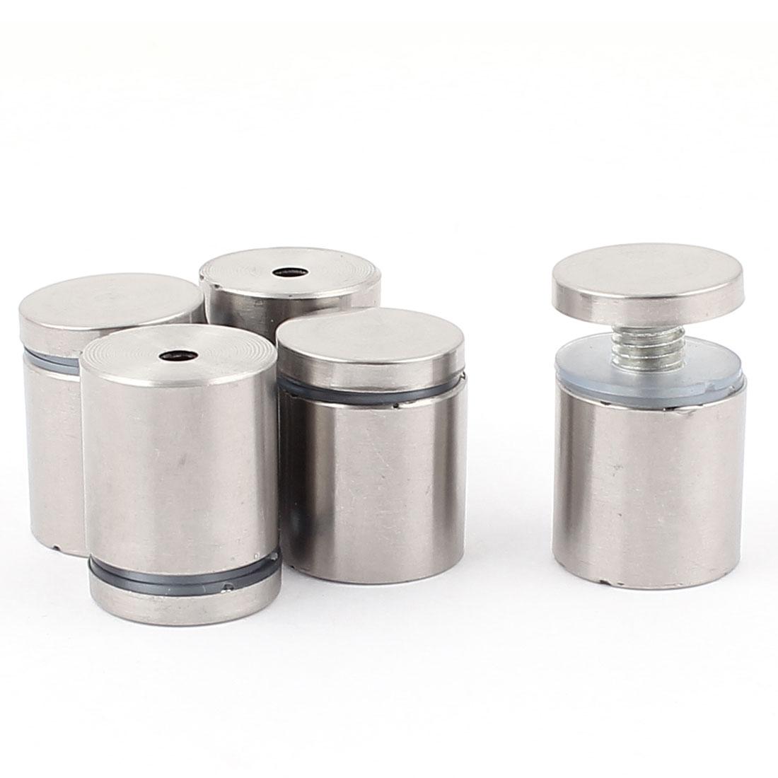 25mm x 32mm Stainless Steel Advertising Frameless Glass Standoff Pins 5pcs