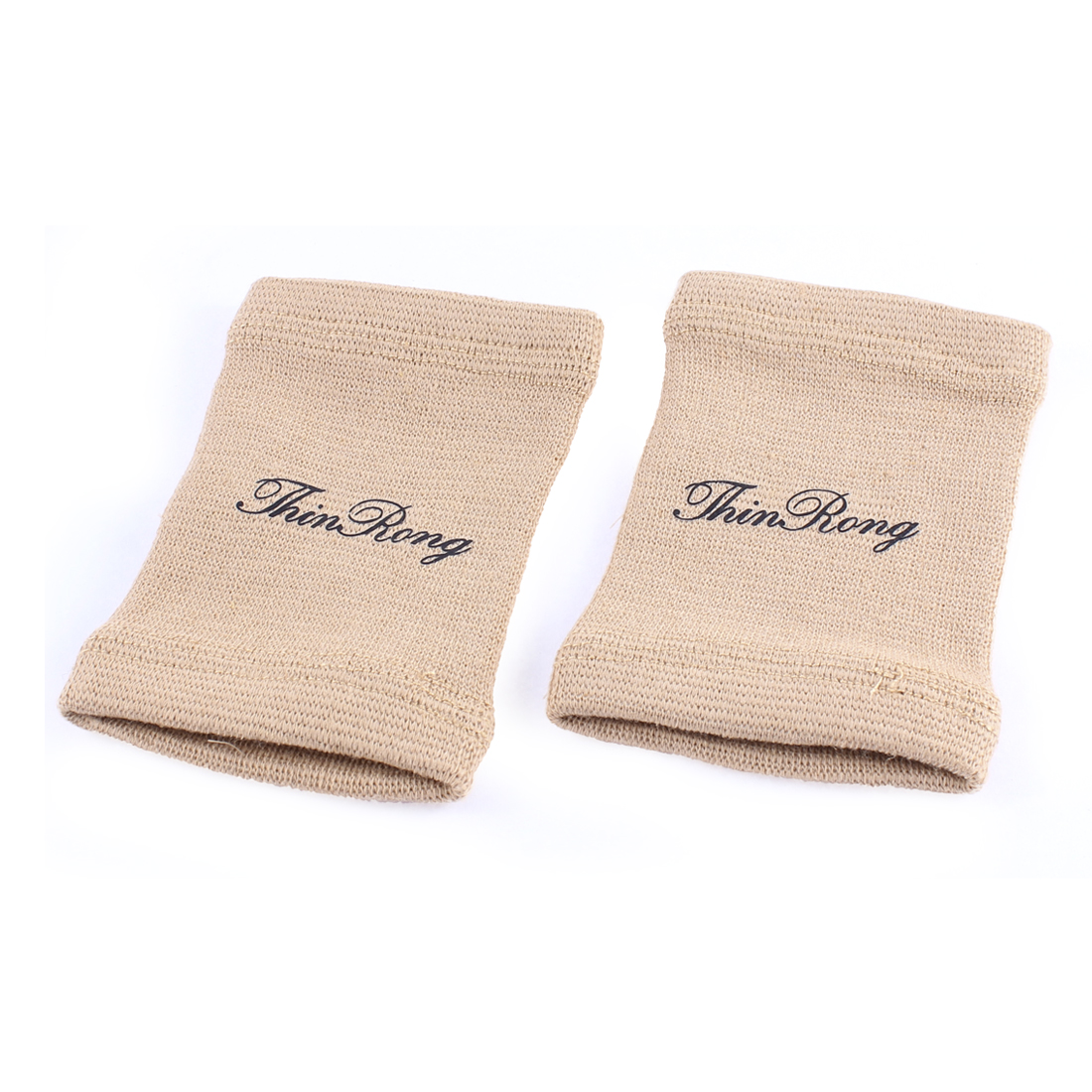 2 Pcs Sports Elastic Knitting Wrist Support Protector Khaki