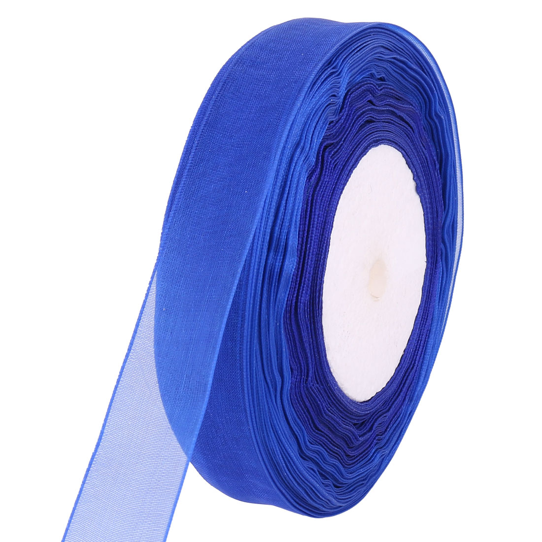 Crafts Gift Wrapping Festival Decor Organza Stain Ribbon Roll Blue 2cmx50 Yards