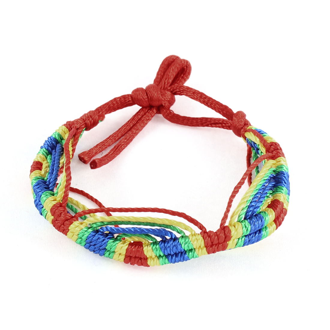 Lady Red Braid String Handmade Woven Wrist Bracelet