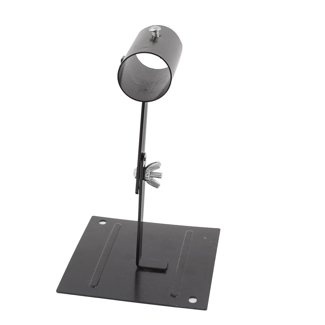 "Black Metal 4.5"" x 3.8"" Rectangle Benchtop Base Adjustable Stand Holder for Soldering Iron"