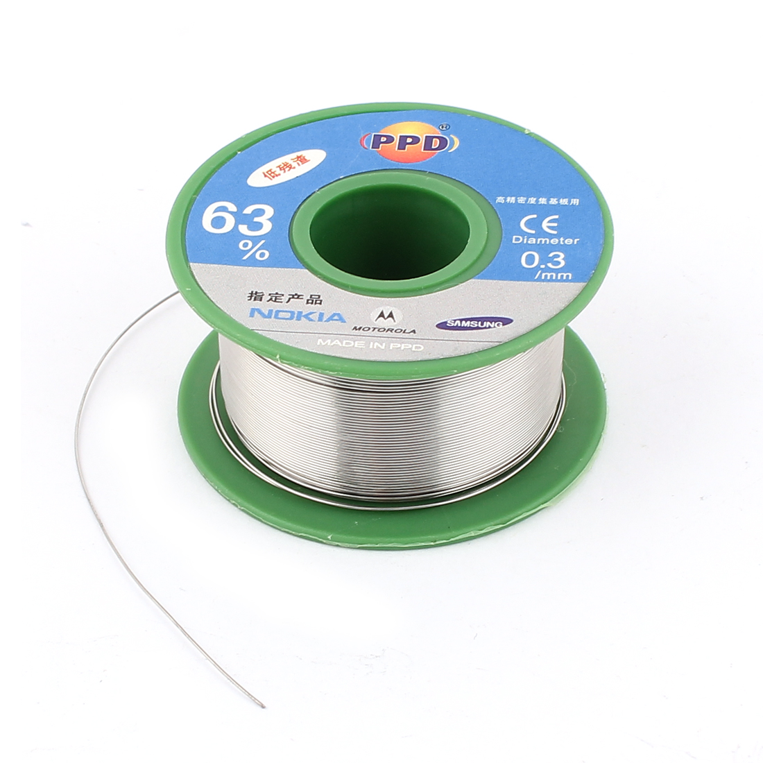 0.3mm Dia 63/37 Tin Lead Rosin Core Solder Flux Soldering Welding Iron Wire Reel Roll