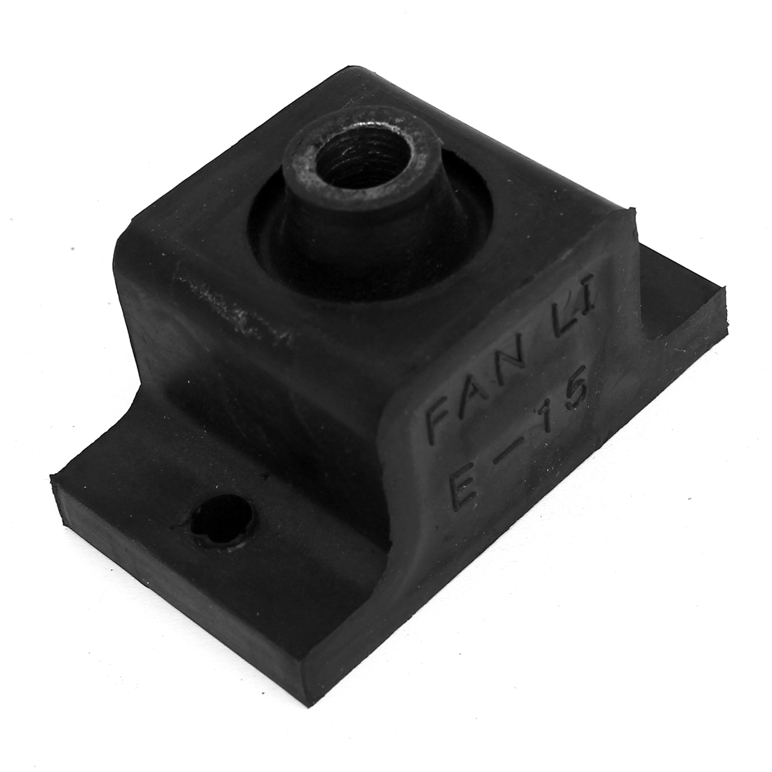 E-15 M8 Female Thread 70mm x 40mm x 40mm Black Rubber Vibration Isolator Mounts