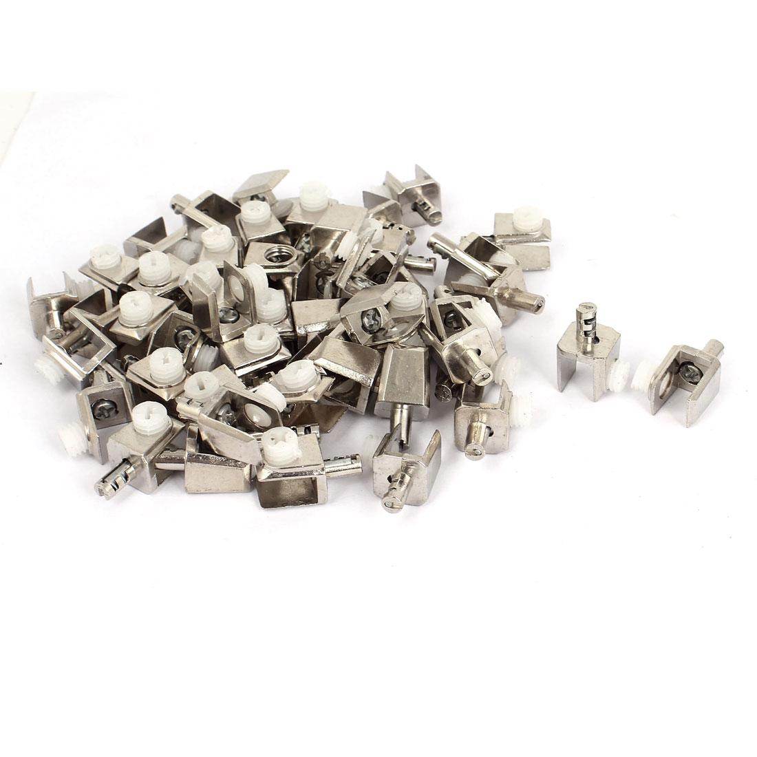 5mm-8mm Thickness Adjustable Screw Zinc Alloy Glass Clip Clamp 50 Pcs