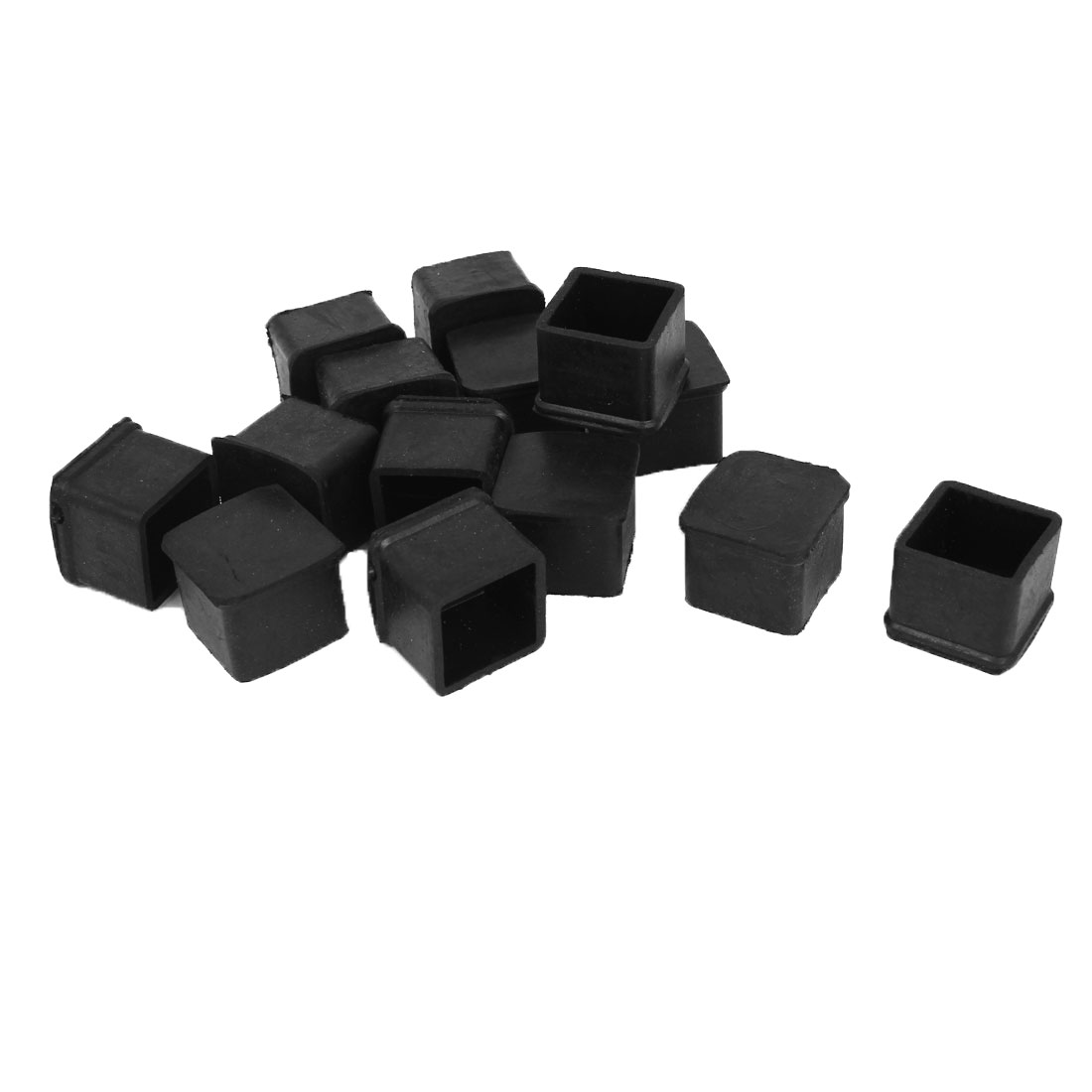 14pcs Black Rubber Furniture Table Foot Leg Covers Pad Floor Protector 25mmx25mm