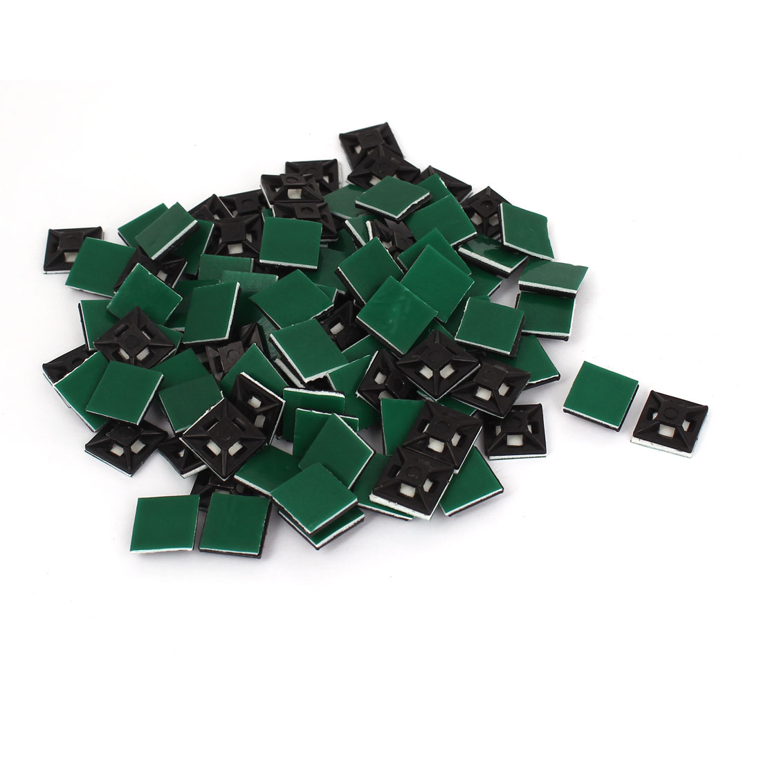 100pcs 13mmx13mm Square Self-Adhesive Cable Tie Mount Bases for 3mm Zip Tie