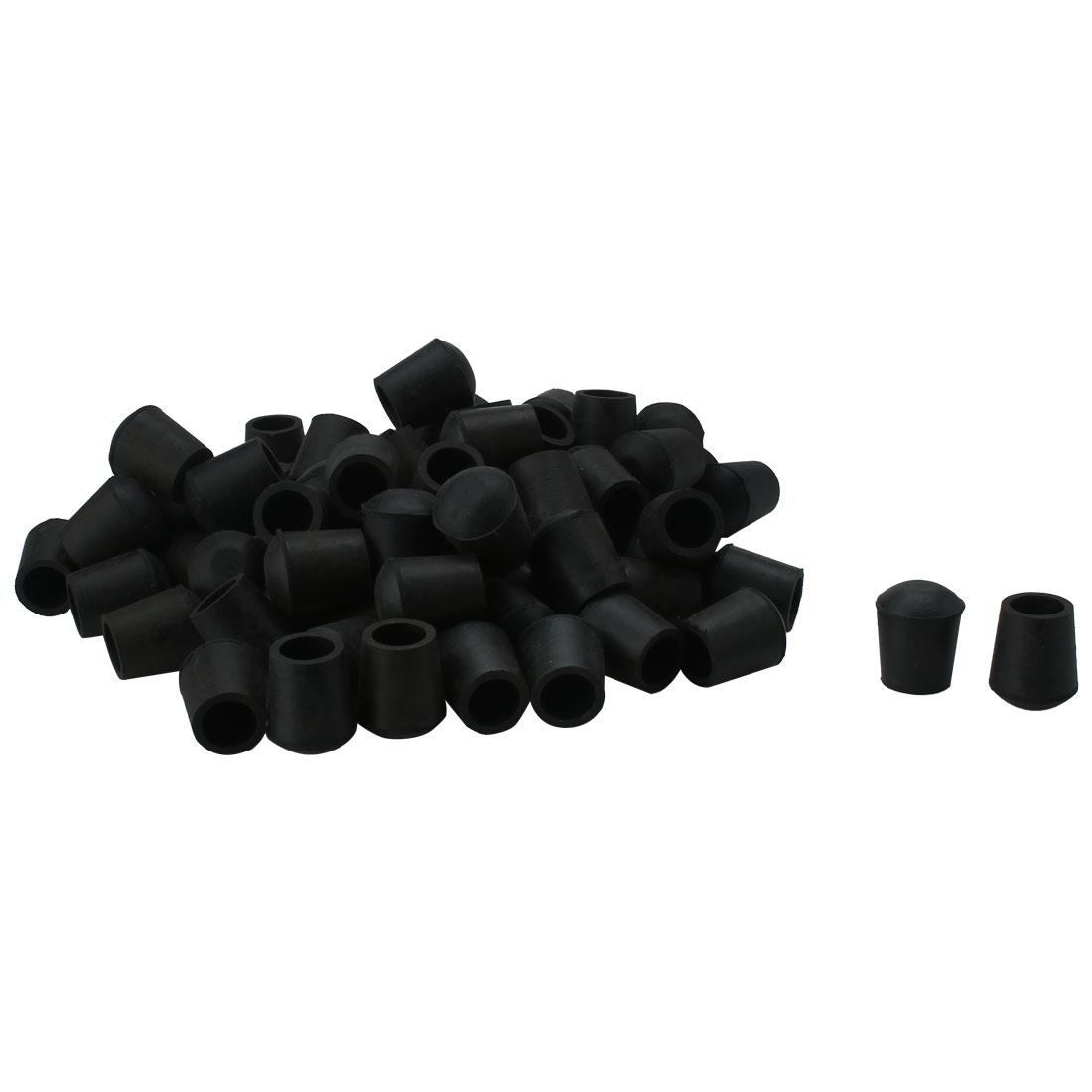 Furniture Table Crutch Feet Stools Protector Black PVC Chair Leg Tip Pad 80pcs
