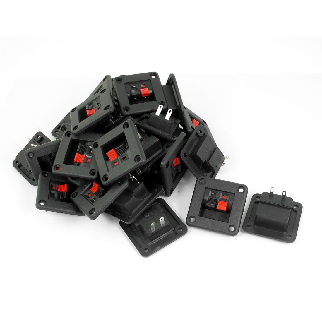 Audio Cable Clip 2 Position Push in Jack Speaker Terminals 30 Pcs