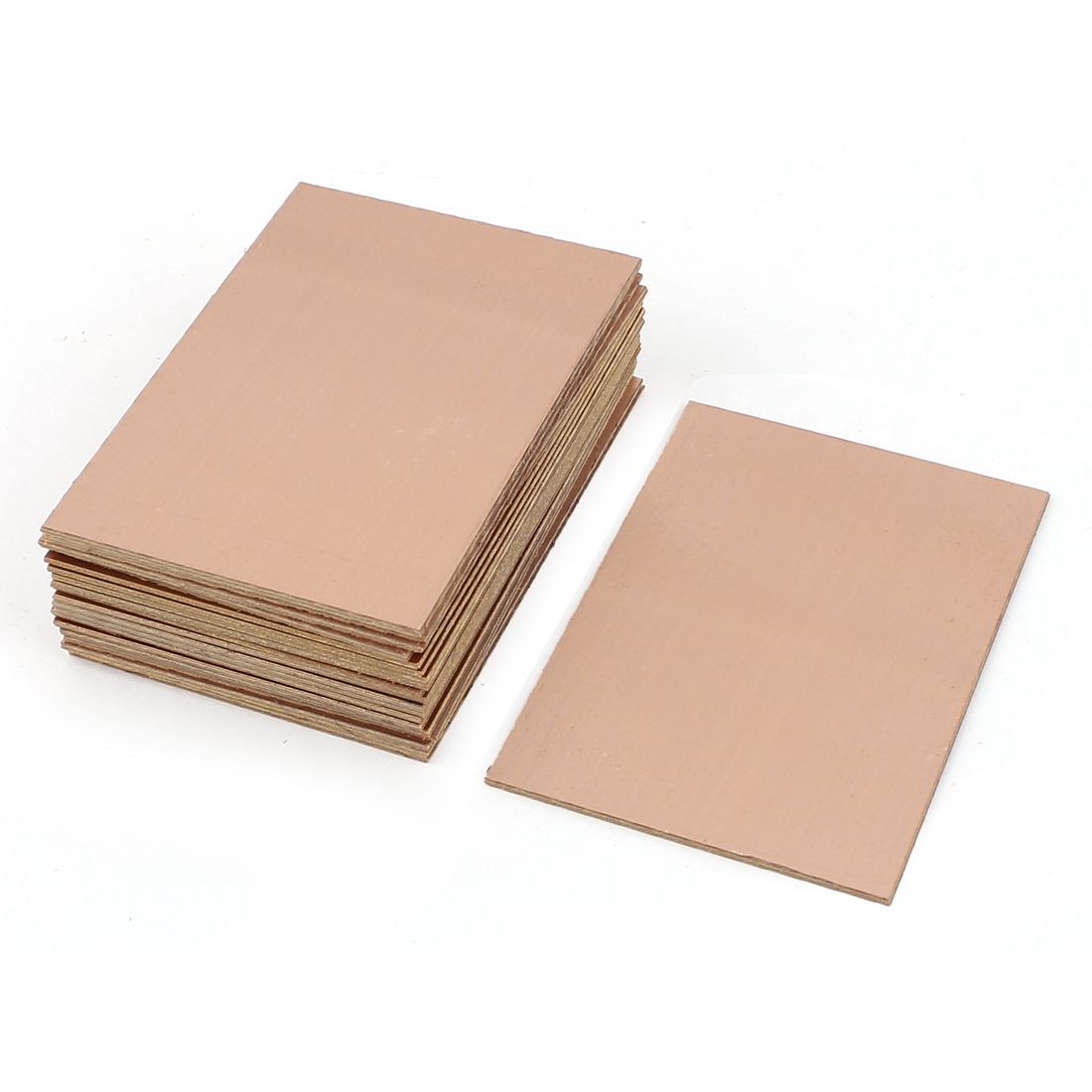 25Pcs 70 x 100 x 1.5mm FR-4 Single Side Copper Clad PCB Laminate Board