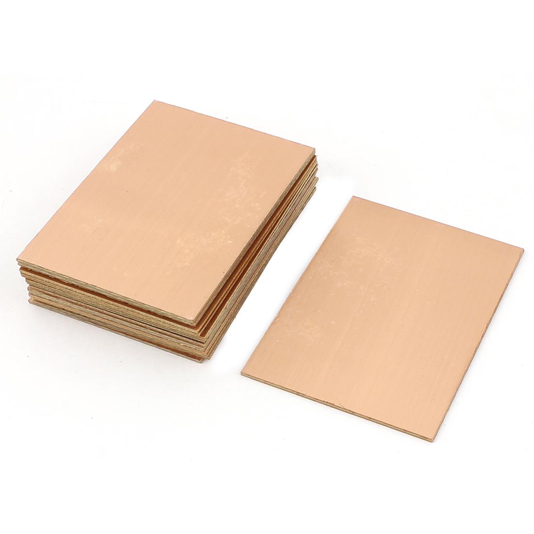15Pcs 70 x 100 x 1.5mm FR-4 Single Side Copper Clad PCB Laminate Board