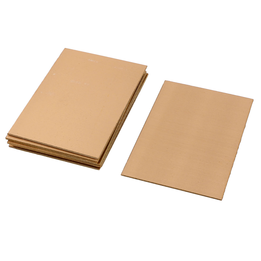 10Pcs 70 x 100 x 1.5mm FR-4 Single Side Copper Clad PCB Laminate Board