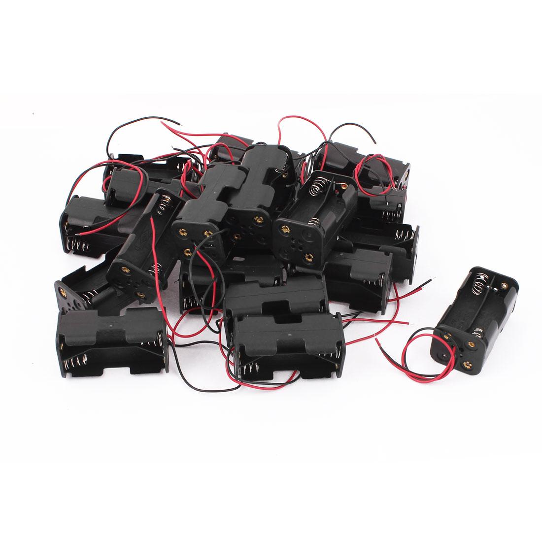 20Pcs Double Side Plastic Battery Holder Box for 4 x 1.5V AA Batteries