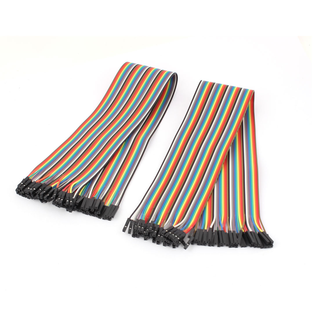 2Pcs 40cm F/F 40P Solderless Colored Flexible Breadboard Jumper Wire