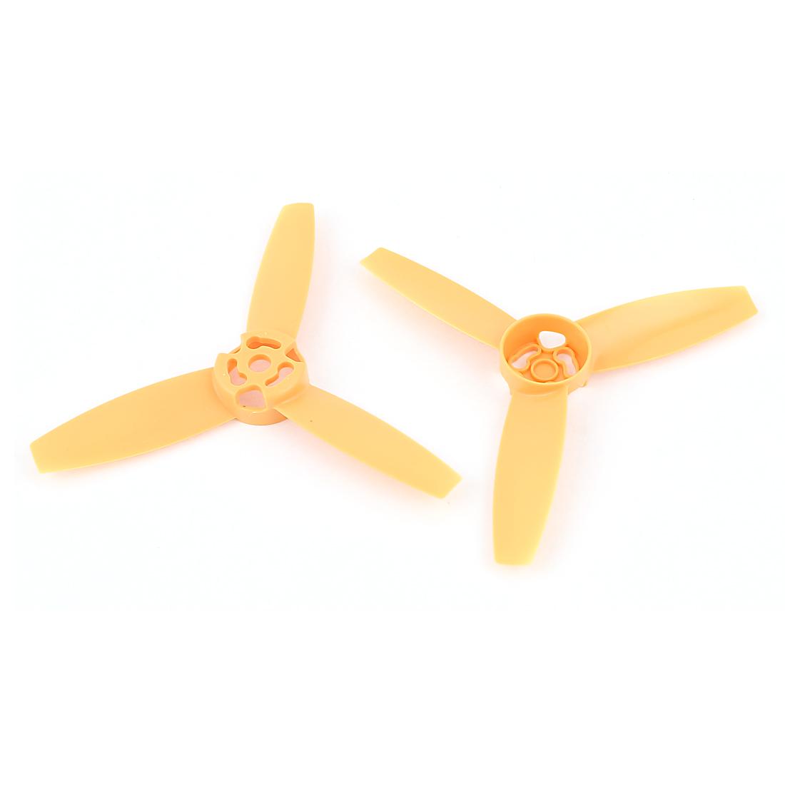 2Pcs 3-Vane 6.5mm Shaft Dia Yellow Prop Propeller for RC Model Aircraft