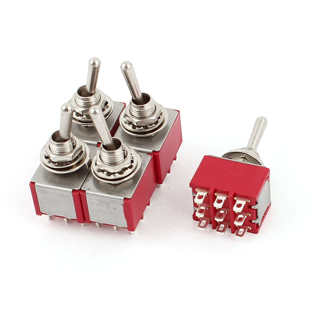 Car Truck ATV Airplane ON-ON 9 Pins Toggle Switch AC 250V/2A 120V/5A 5pcs