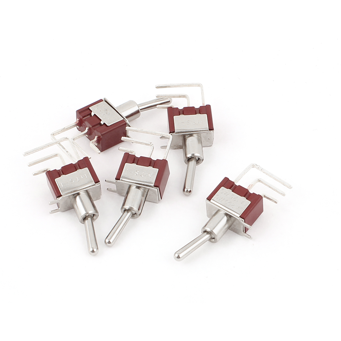 Right Angle 3 Pins SPDT 2 Position Toggle Switches AC 250V/3A 125V/6A 5pcs