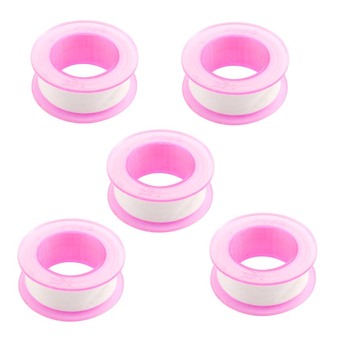 5pcs 16mm Width White PTFE Seal Tape Water Pipe Air Hose Plumbing Plumber Thread Sealant