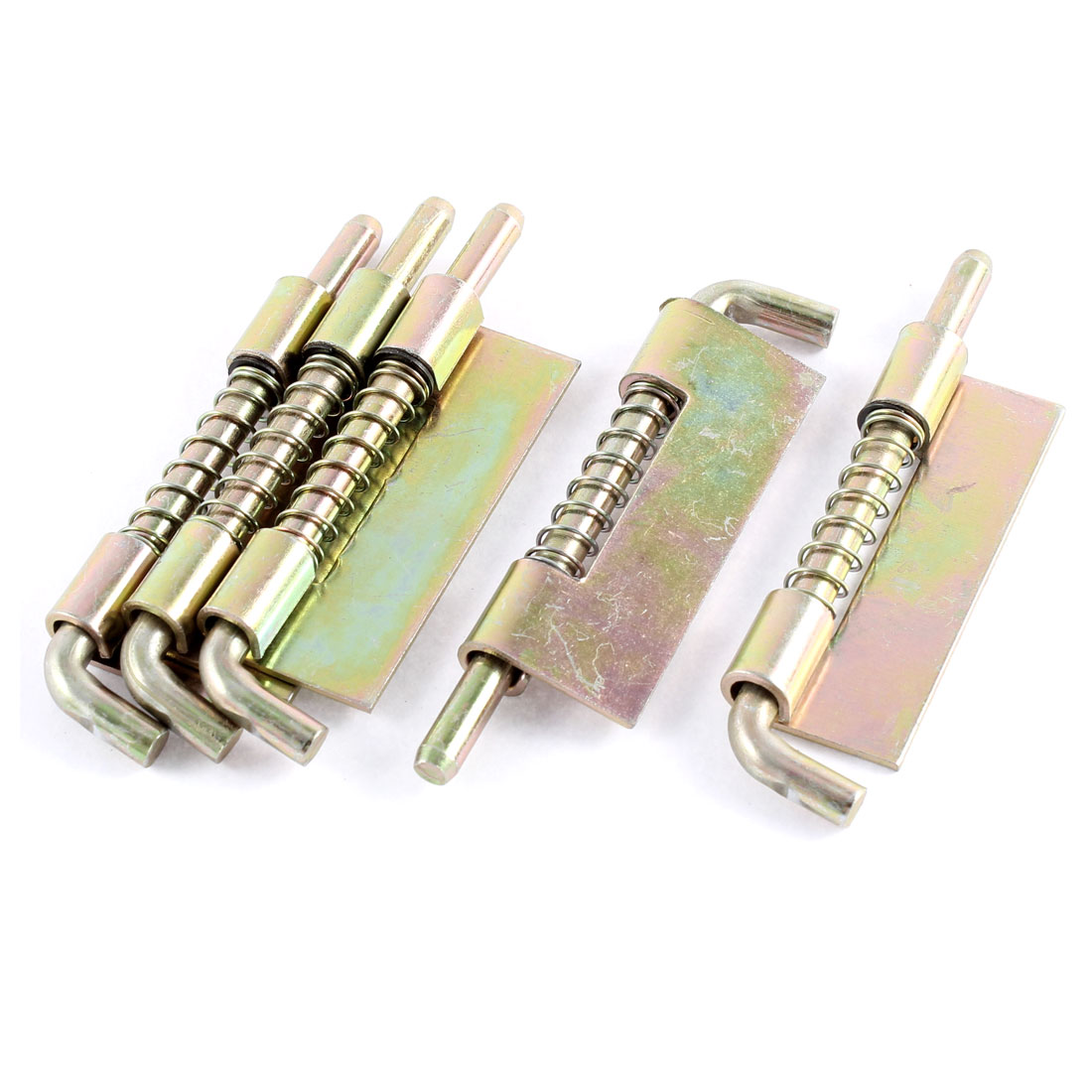 "Hardware Spring Loaded Metal Door Security Safety Barrel Bolt Latch Lock Tool 3.6"" Long 5pcs"
