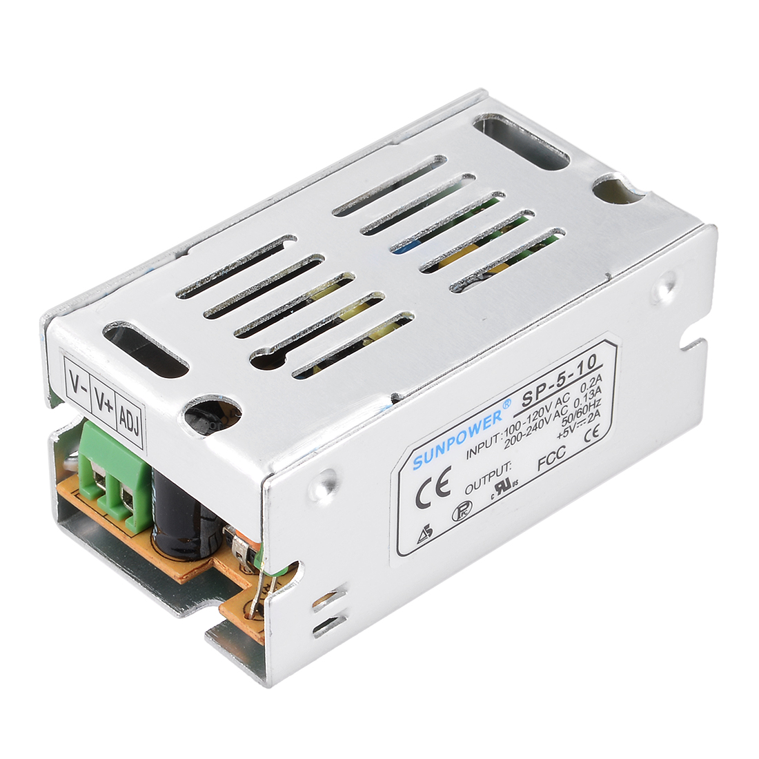 AC 100-120V/200-240V to DC 5V 2A 10W Switching Power Supply Drive for LED Strip