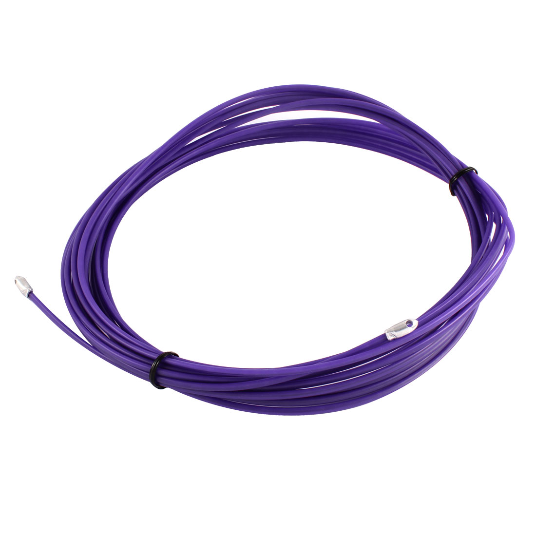30Ft 9m Length 3mm Dia Purple Electrical Wire Threader Cable Cord Puller Pulling
