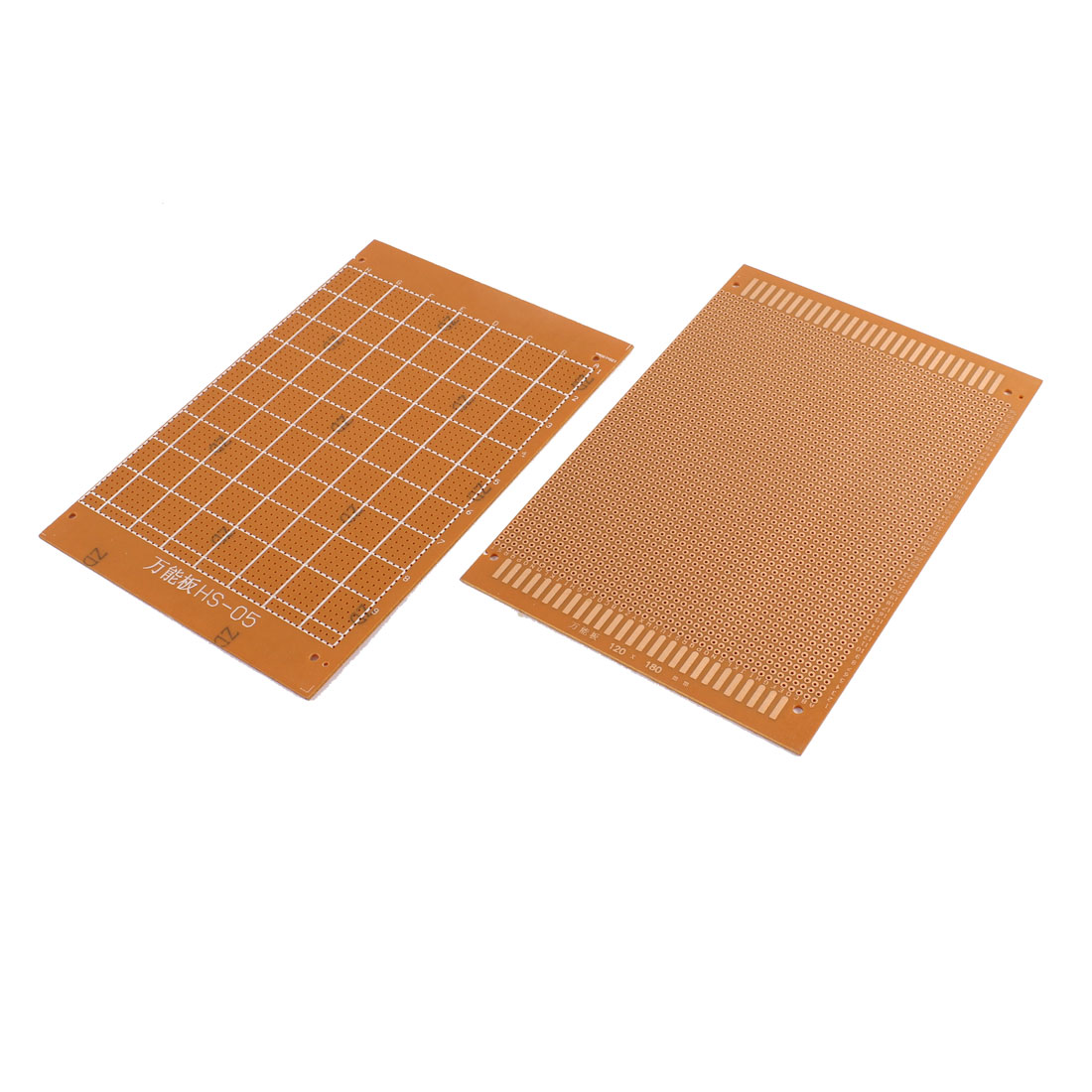 2pcs 12cm x 18cm Single Side Copper Prototyping PCB Printed Circuit Board Prototype Breadboard