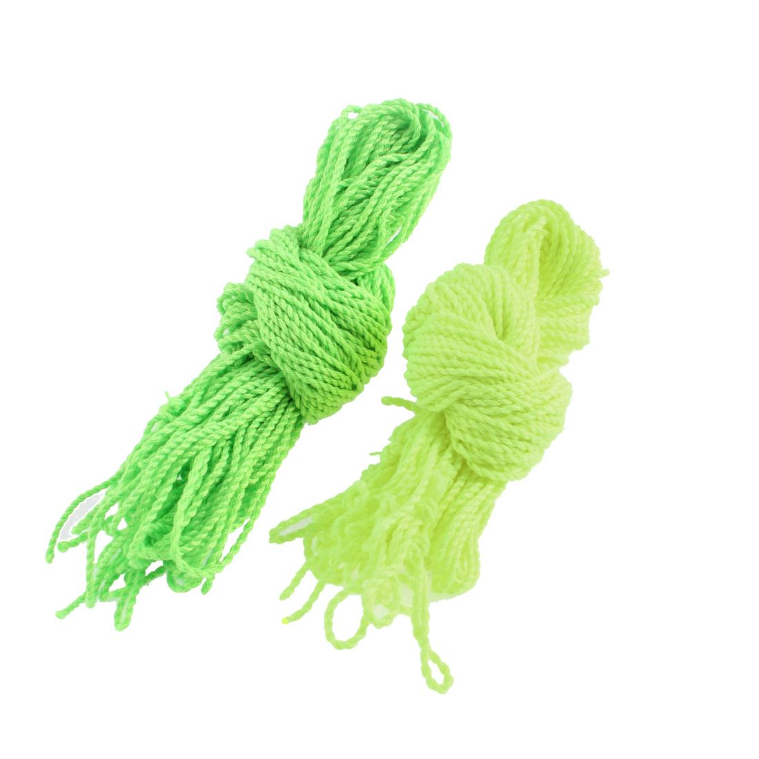 Yellow Green Nylon Yo Yo Ball Bearing Strings 40 Pcs