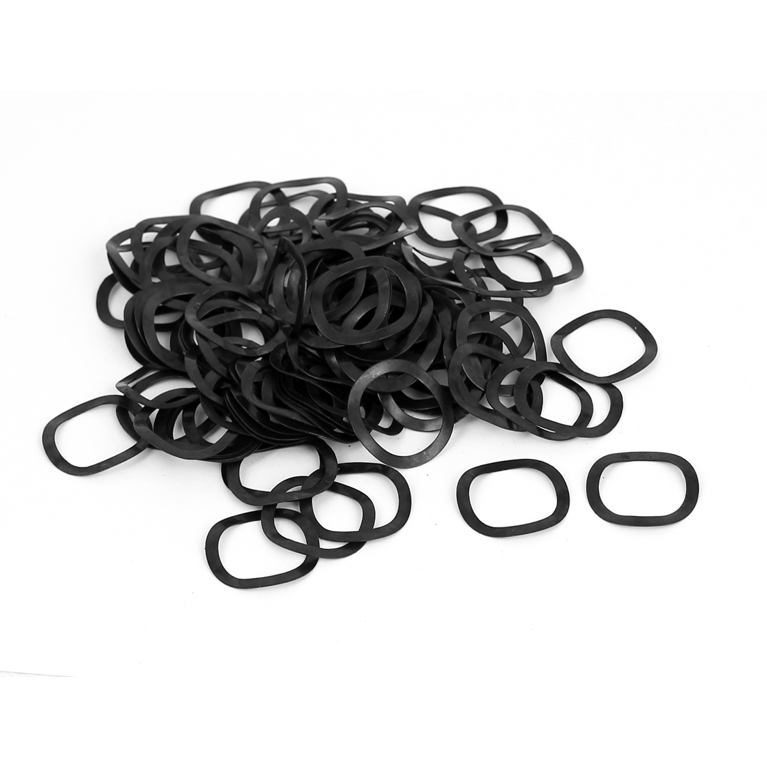 100pcs Black Metal Wavy Wave Crinkle Spring Washers M16 16mm x 21mm x 0.3mm